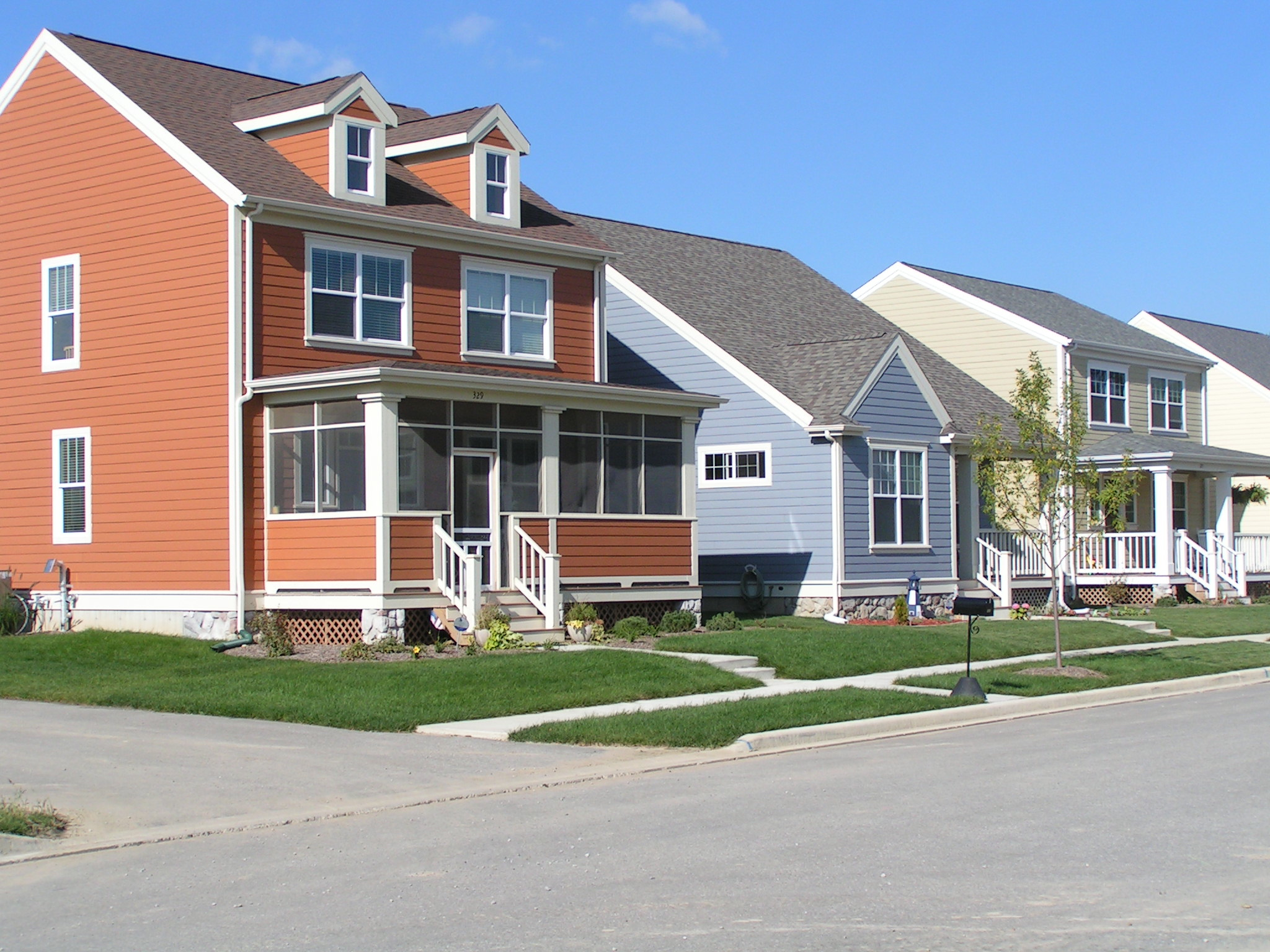 Houses side view