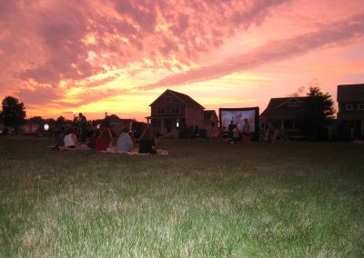 Gorgeous sunset at Movie Night