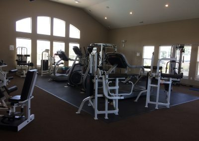 Exercise equipment in the clubhouse