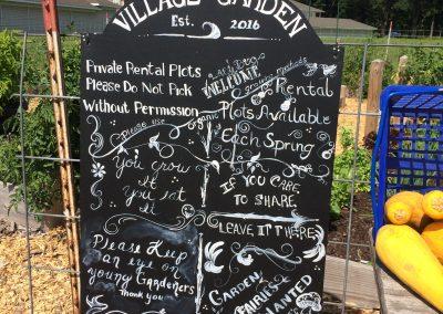 Village Garden Sign